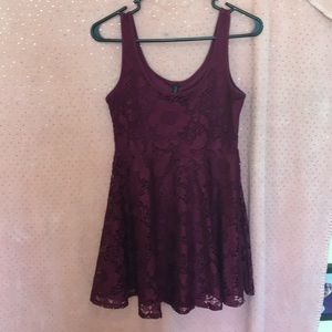 Plum, lace dress